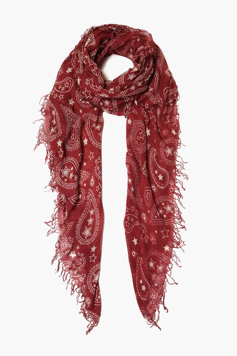 Renaissance Rose Paisley Cashmere and Silk Scarf