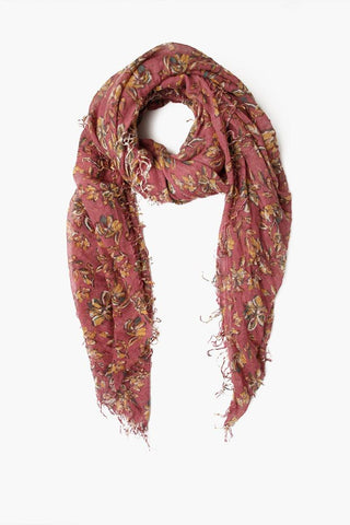 Meadow Mauve Stripe Print Wool Scarf