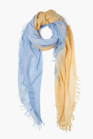 Deep Teal Cashmere and Silk Scarf