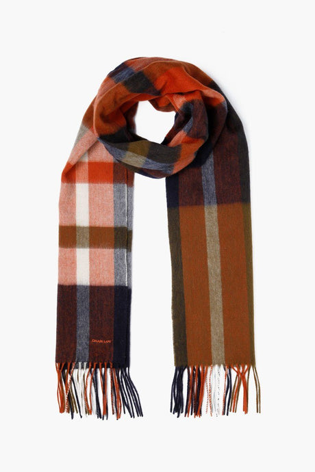 Total Eclipse Skinny Plaid Wool Scarf