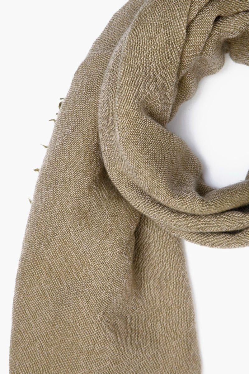 Garden Green Two Toned Cashmere Scarf