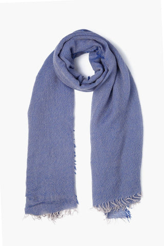 Nautical Blue Two Toned Cashmere Scarf
