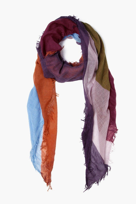 Cordovan Abstract Print Cashmere and Silk Scarf