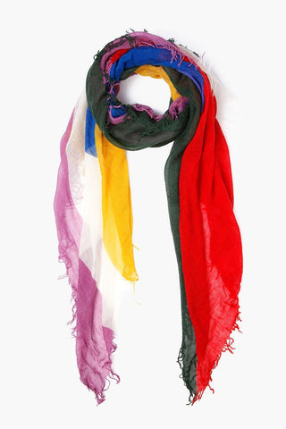 Maize Abstract Print Cashmere and Silk Scarf