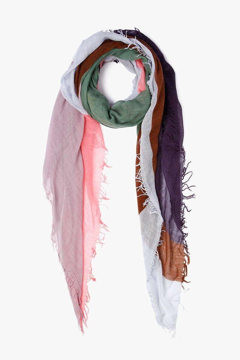 Total Eclipse Abstract Print Cashmere and Silk Scarf