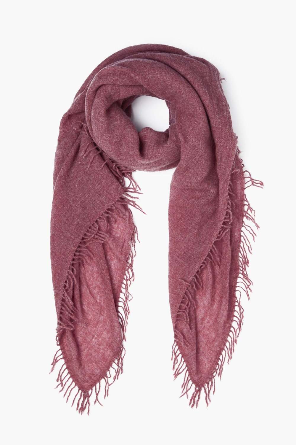 Dusty Brick Cashmere Scarf