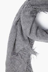 Heather Grey Cashmere Scarf