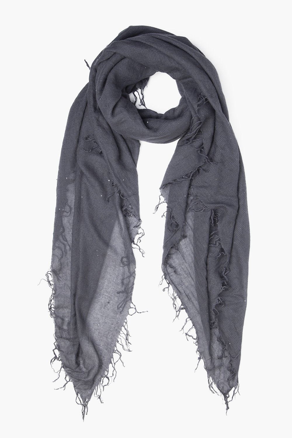 Tornado Scattered Sequins Cashmere and Silk Scarf