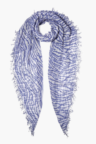 Dapple Gray Tye Dye Zebra Print Cashmere and Silk Scarf