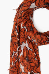 Potters Clay Anemone Blooms Print Cashmere and Silk Scarf