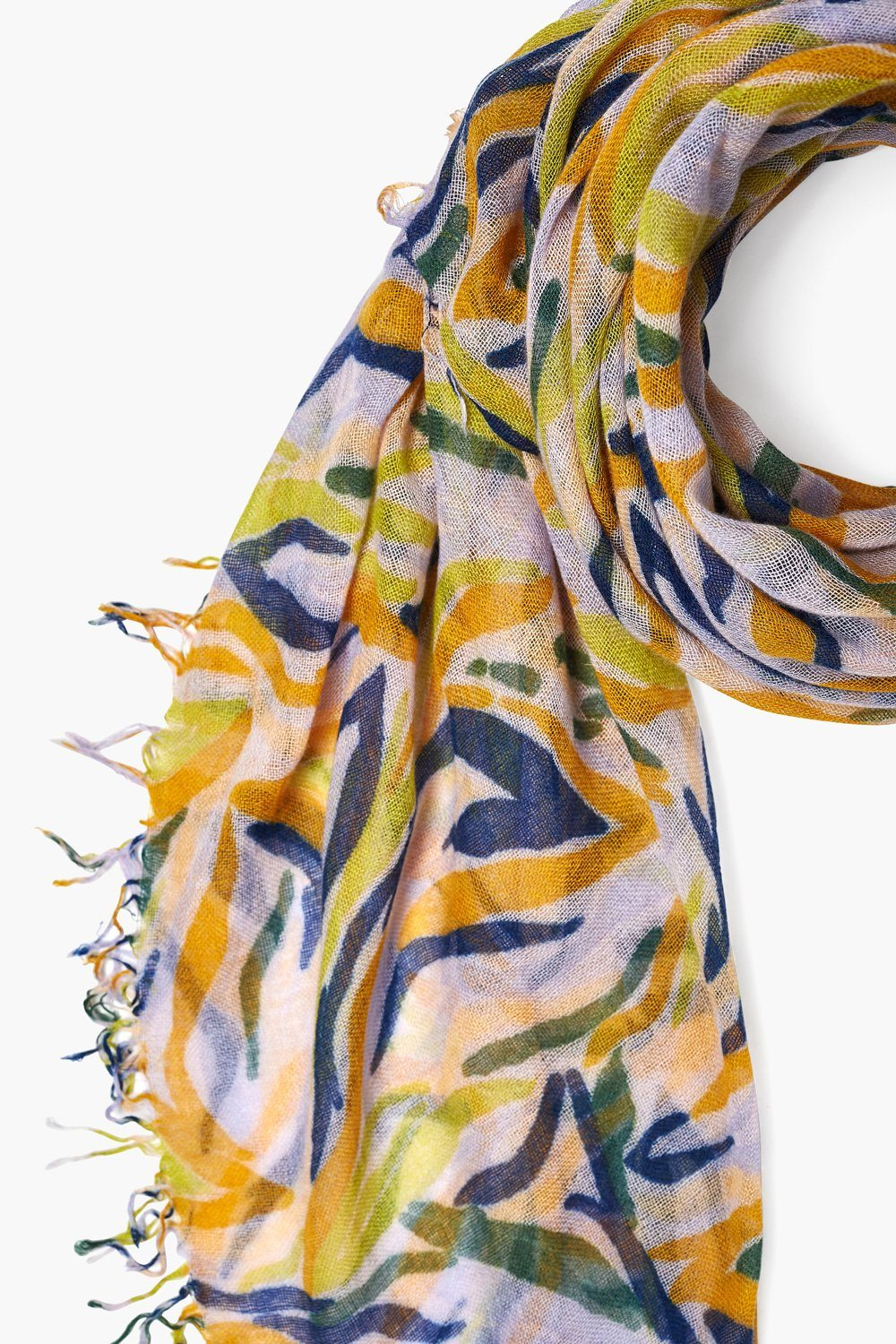 Orchid Hush Zebra Print Cashmere and Silk Scarf