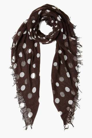 Java Polka Dot Cashmere and Silk Scarf