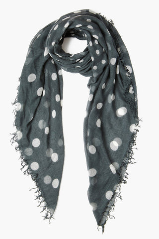 Urban Chic Polka Dot Cashmere and Silk Scarf