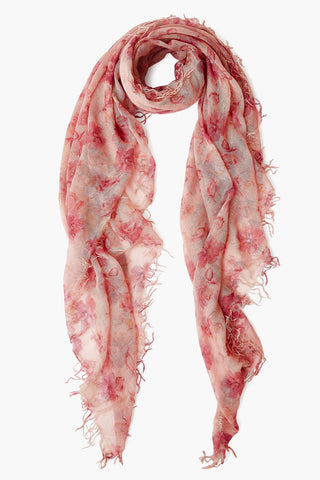 Mauve French Floral Cashmere and Silk Scarf