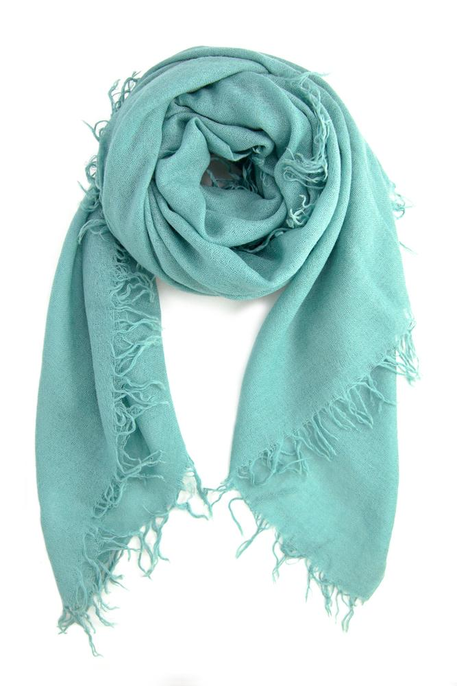 Mineral Blue Cashmere and Silk Scarf
