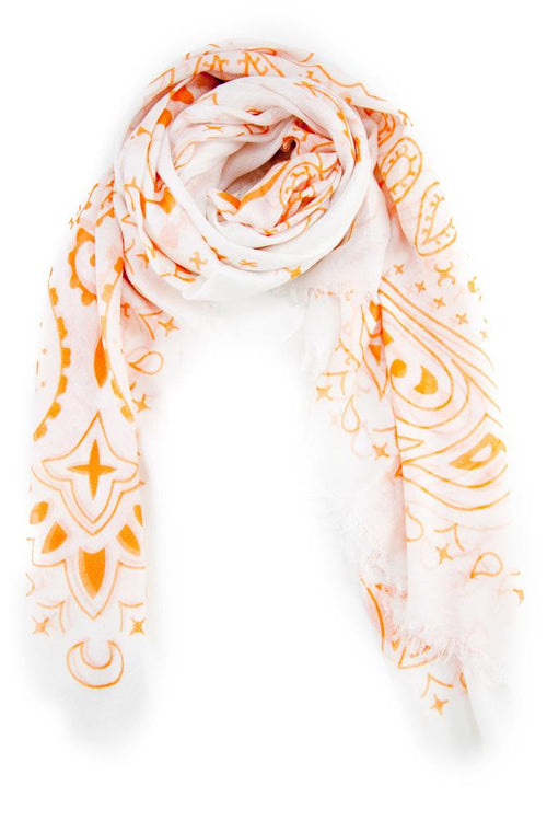 Birds of Paradise Modal and Cashmere Paisley Print Scarf