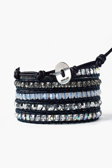 Crystal and White Opal Mix Wrap Bracelet