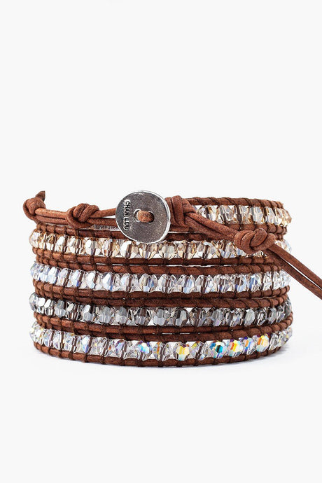 Golden Shadow Mix Wrap Bracelet
