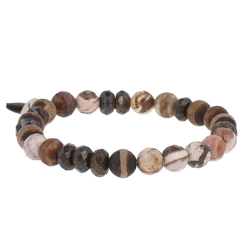 Brown Mix Stretch Bracelet