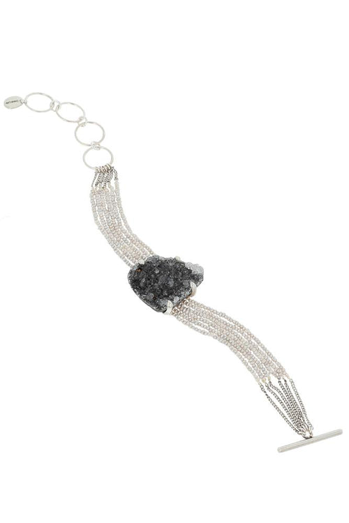 Grey Mix Pendant Bracelet