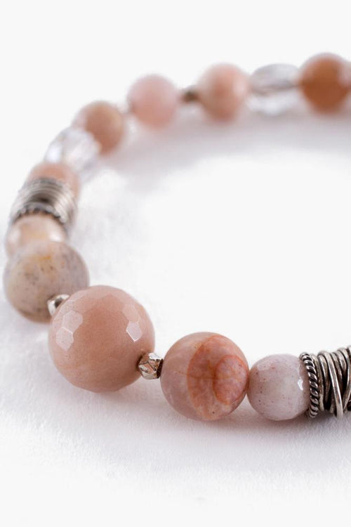 Sunstone Mix Pull-Tie Bracelet