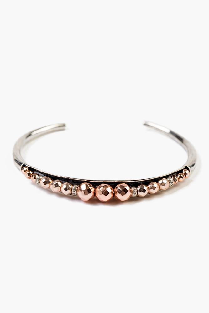 Rose Gold Hematine Embellished Cuff