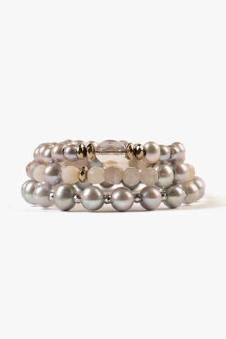 Grey Mix Bracelet Set