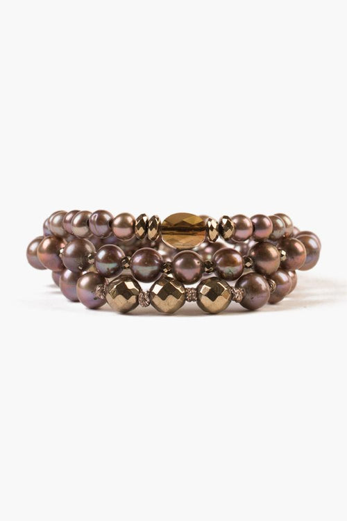 Taupe Mix Bracelet Set