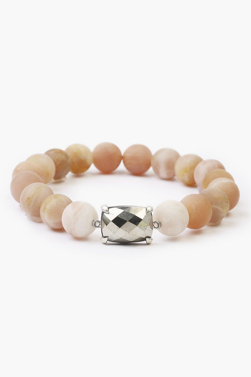 Matte Sunstone Stretch Bracelet