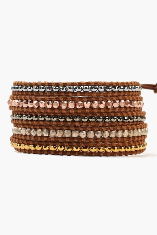Henna Mix Five Wrap Bracelet
