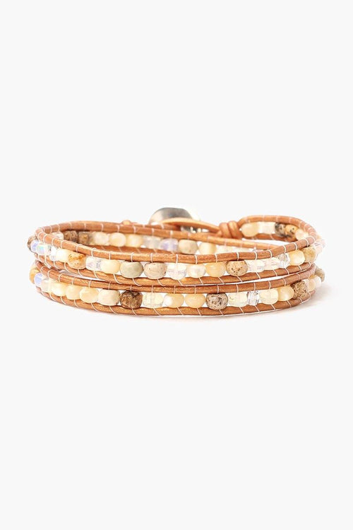 Opal Mix Double Wrap Bracelet