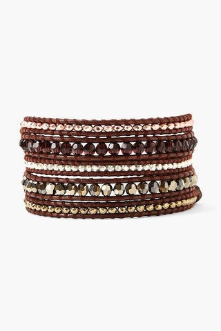 Burgundy Crystal Wrap Bracelet