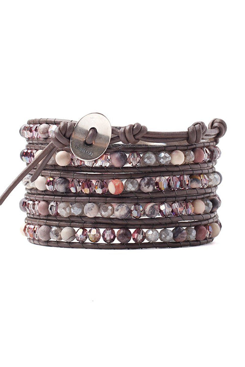 Lilac Shadow Mix Five Wrap Bracelet