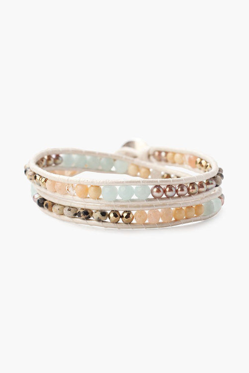 Amazonite Mix Double Wrap Bracelet