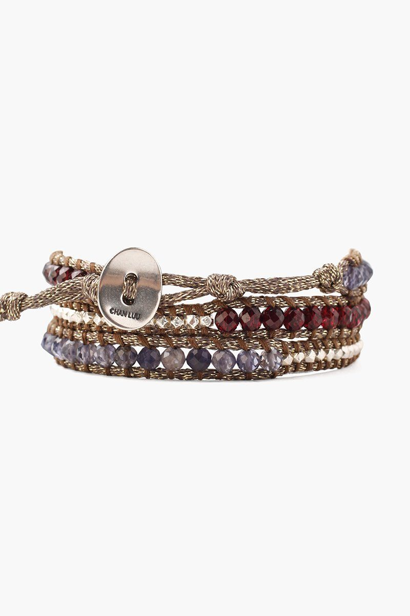 Iolite Mix Three Wrap Bracelet