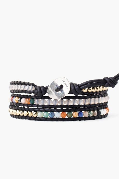 Multi Mix Three Wrap Bracelet