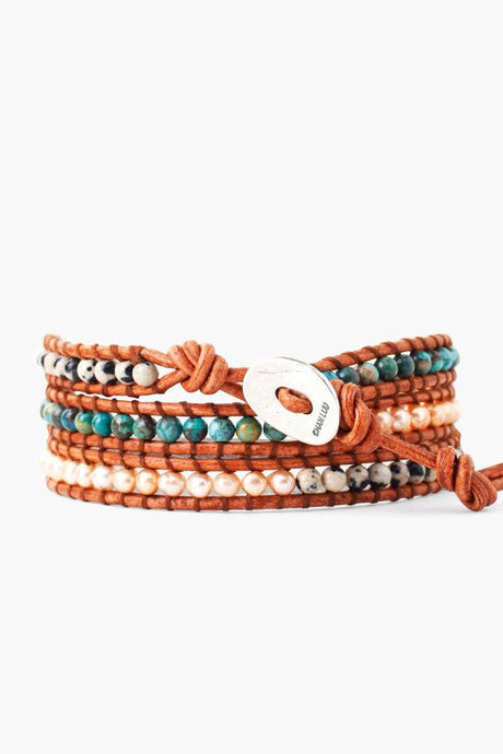 Turquoise Mix Three Wrap Bracelet
