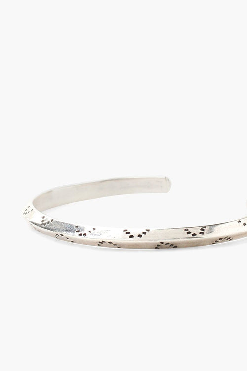 Silver Dot Engraved Cuff