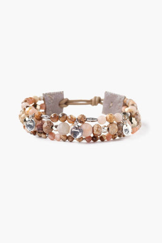 Sunstone Mix Multi-Strand Wrap Bracelet