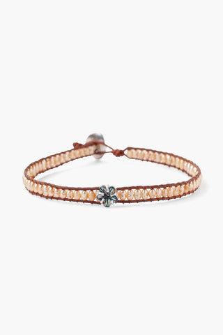 Rose Gold Sea Charm Single Wrap Bracelet