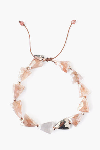 Strawberry Quartz Mix Starcut Pull-Tie Bracelet
