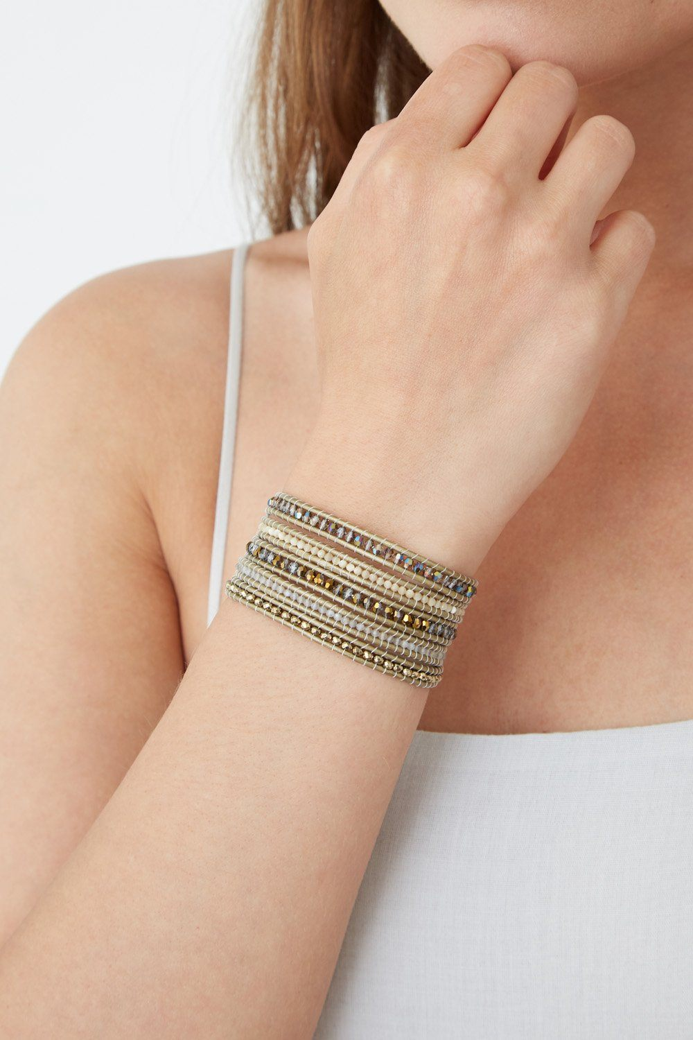 Crystal Dorado Mix Wrap Bracelet