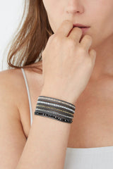 Silver Shade Mix Wrap Bracelet