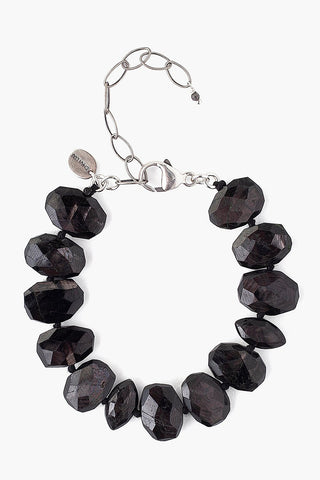 Hypersthene Faceted Oval Bracelet