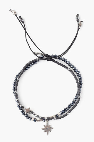 Black Mix Astral Pull-Tie Bracelet Set