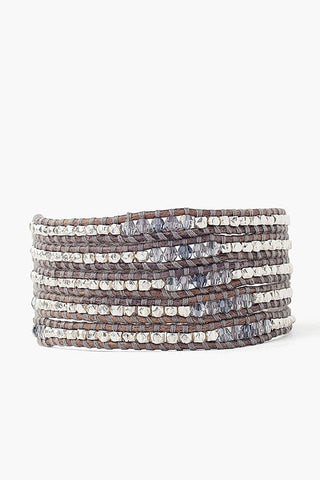 Blue Shadow Mix Wrap Bracelet