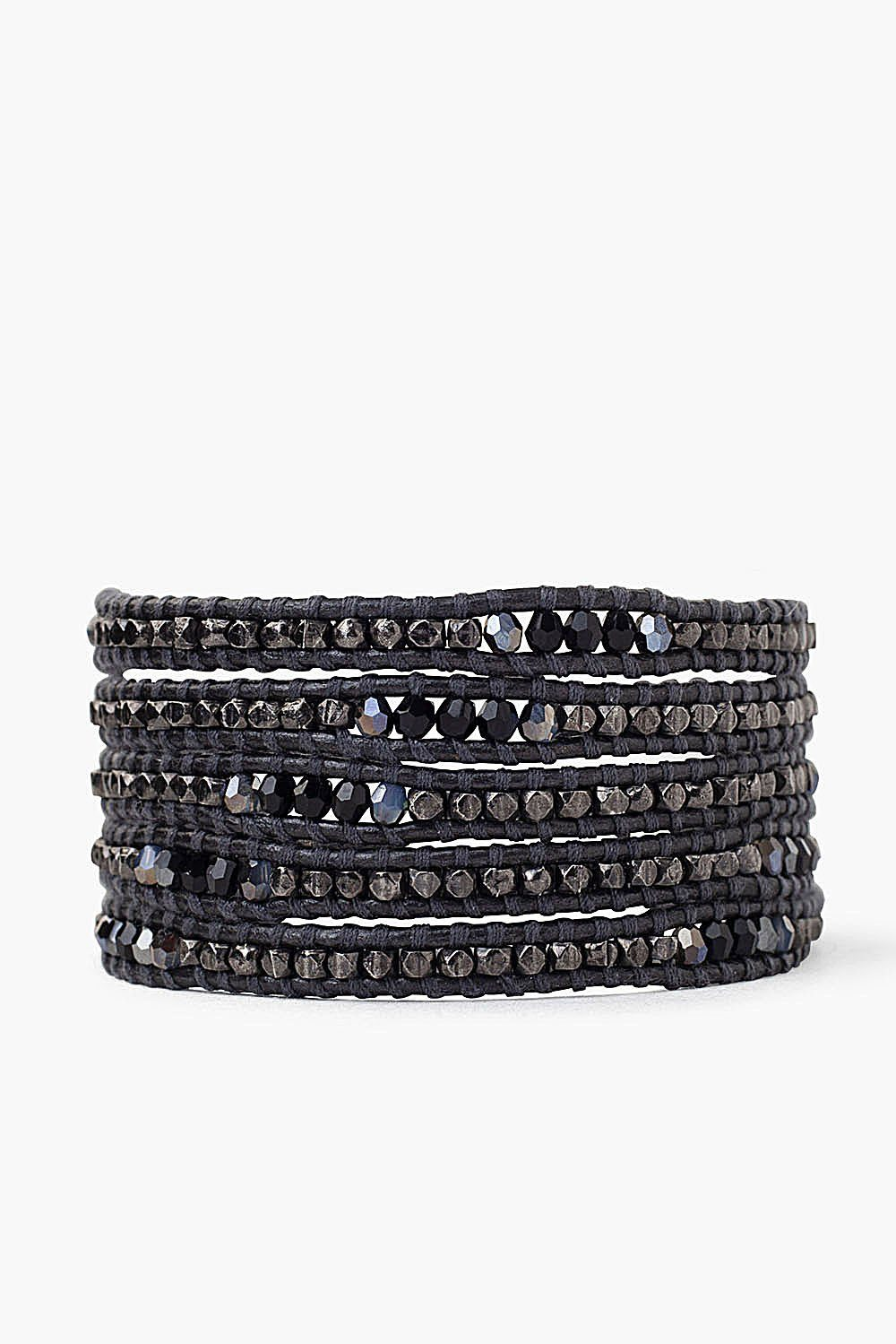 Gunmetal Mix Wrap Bracelet