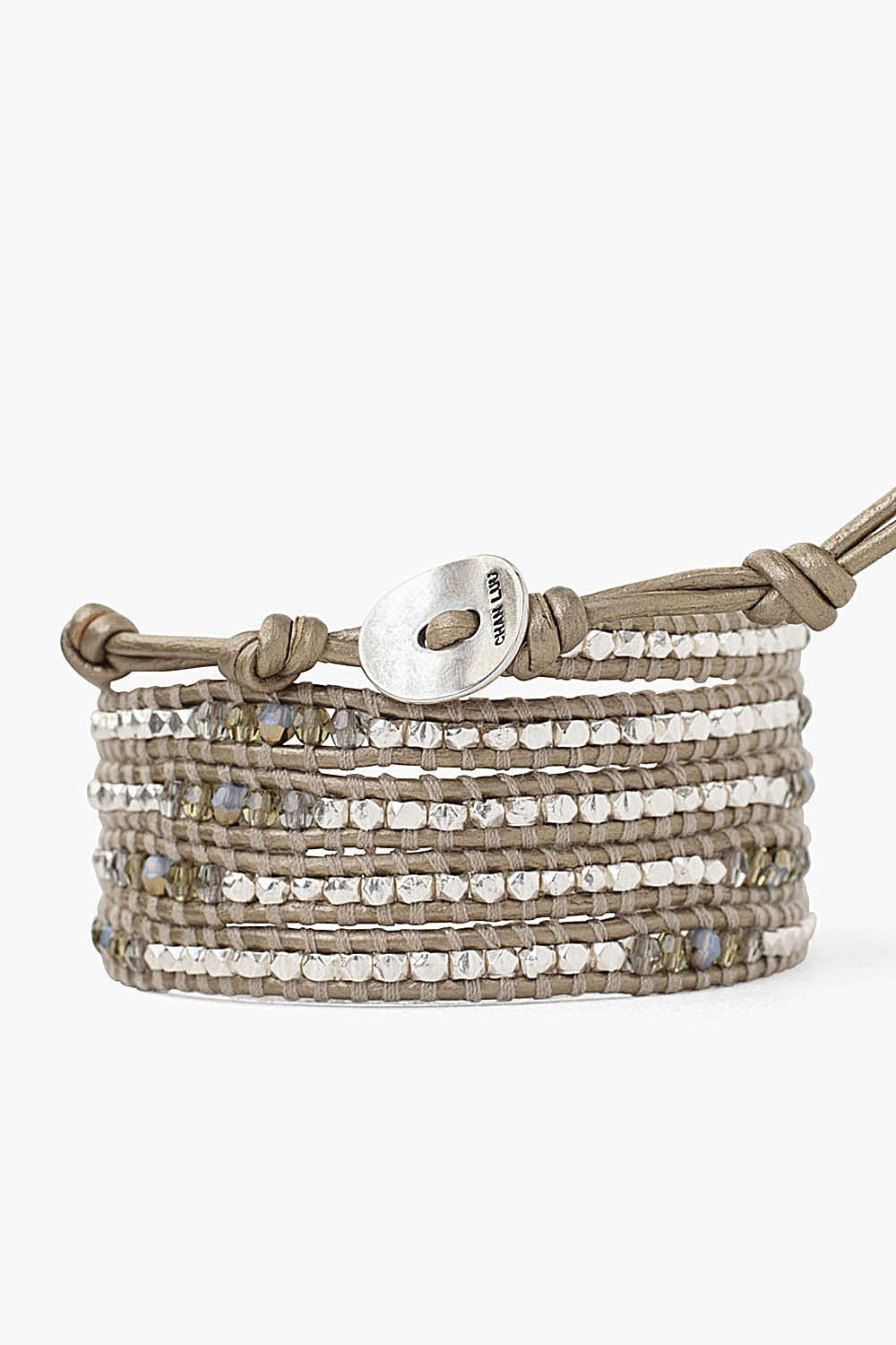 Khaki Mix Wrap Bracelet