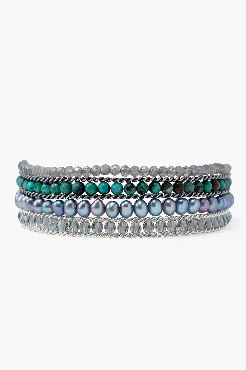 Turquoise Mix Chain Wrap Bracelet