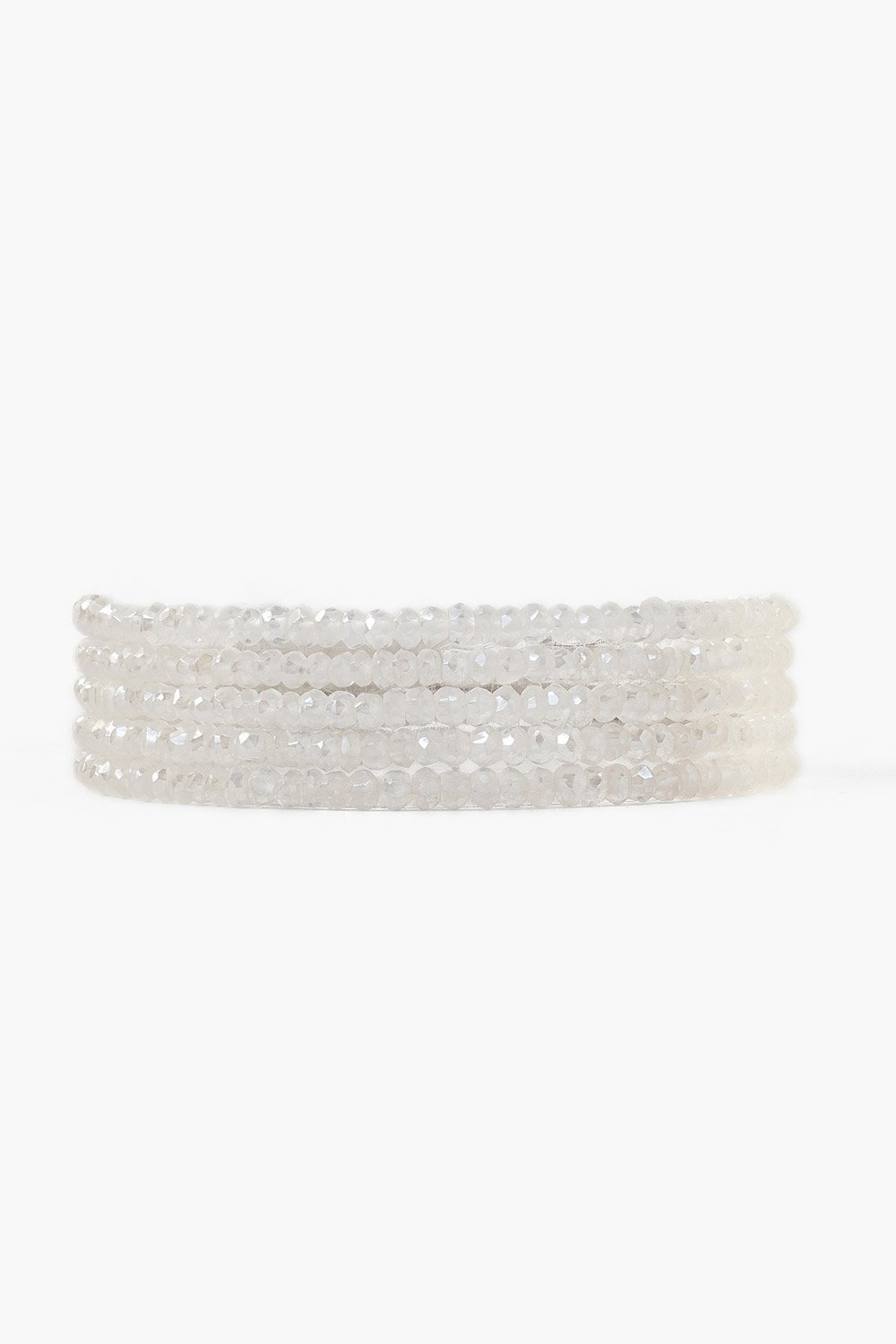 Mystic Clear Quartz Naked Wrap Bracelet